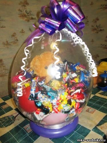 Подарки в шарах для упаковки