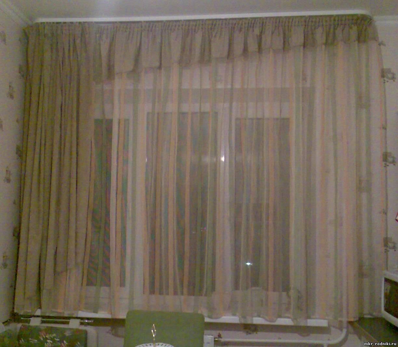 Шторы на полуэркерное окно фото